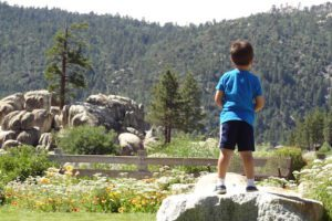My middle son enjoying the view in Big Bear, CA.