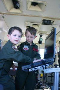 Boys at Nellis AIRSHOW