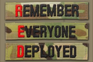 #RedFriday is to show support for those Active Duty military members who are currently in harms way. Remember Everyone Deployed is a current social media message to show solidarity with our troops.