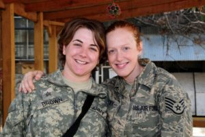 My cousin Haley and I in Afghanistan, 2010.