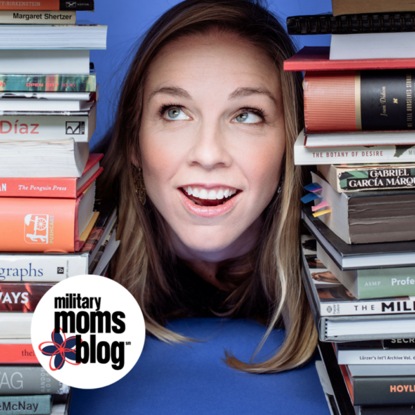 Pictured: Julie Cohen, Military Moms Blog managing editor, co-founder and fellow book lover.