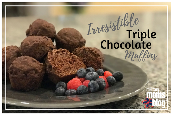Irresistible Triple Chocolate Surprise Muffins