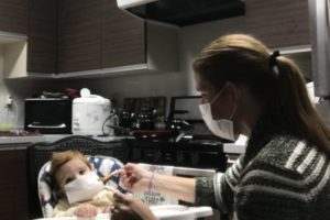 We are so desperate to stay healthy we are implementing face masks with every member of our household. Even the baby!