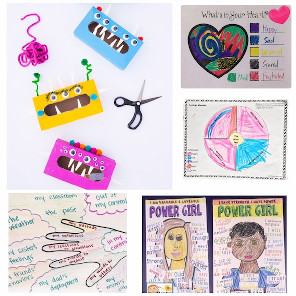 Color and Craft your way through a deployment. Try these art therapy ideas with your military child.