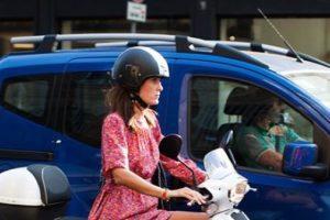 mom on a moto