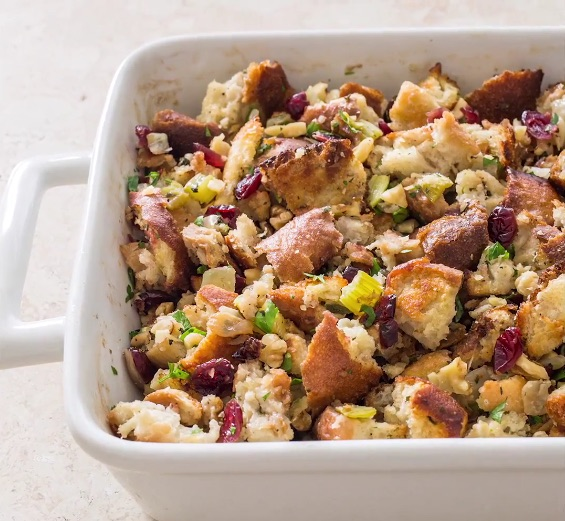 best holiday christmas stuffing with cranberries