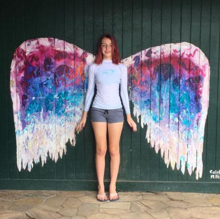 angel wings photo op