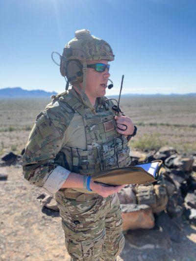 military radio desert
