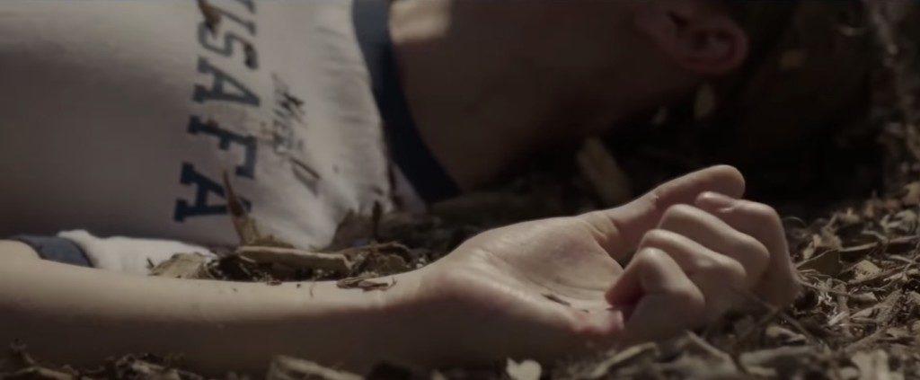 Carol Danvers falls during military training.