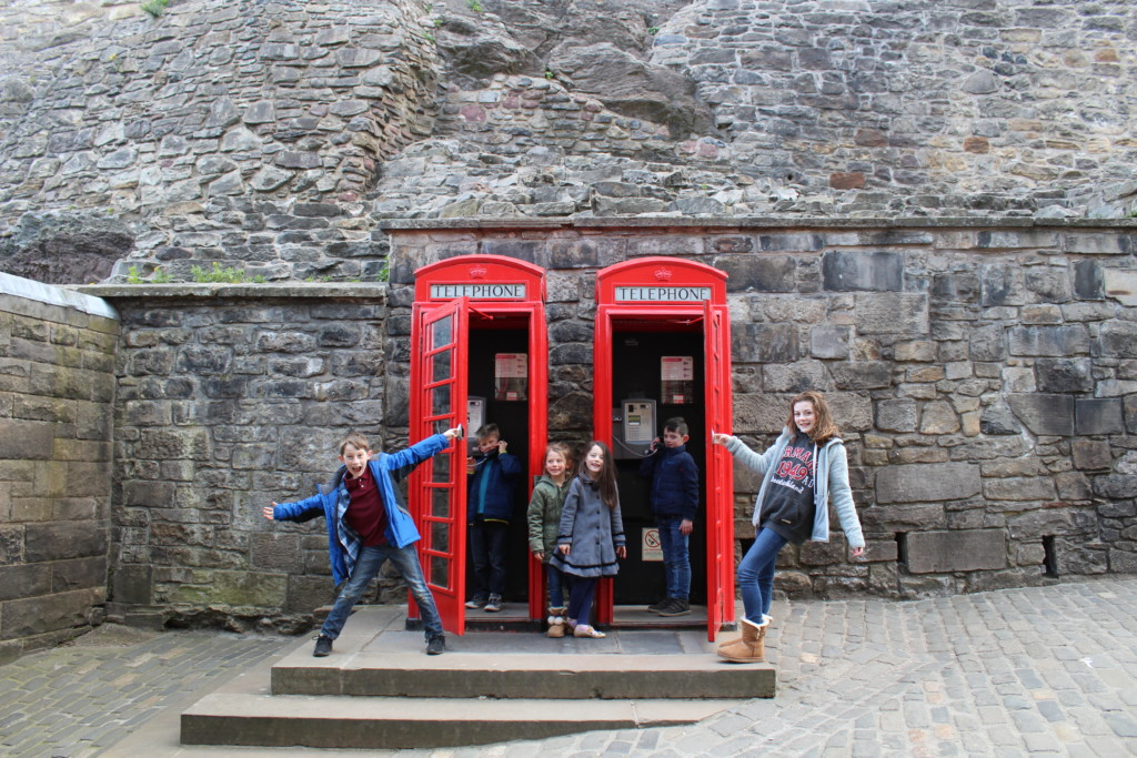 Red Telephone Booth England Scotland