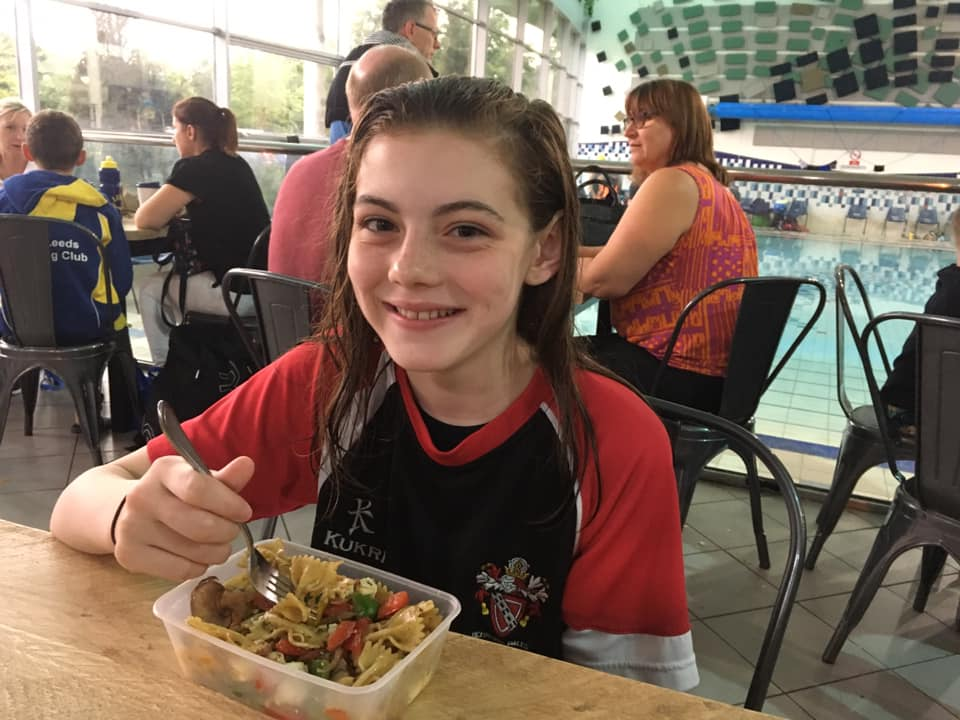 swim gala food pasta salad