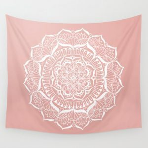Rose Gold Tapestry Dorm Room Must-Haves