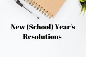 school year resolutions