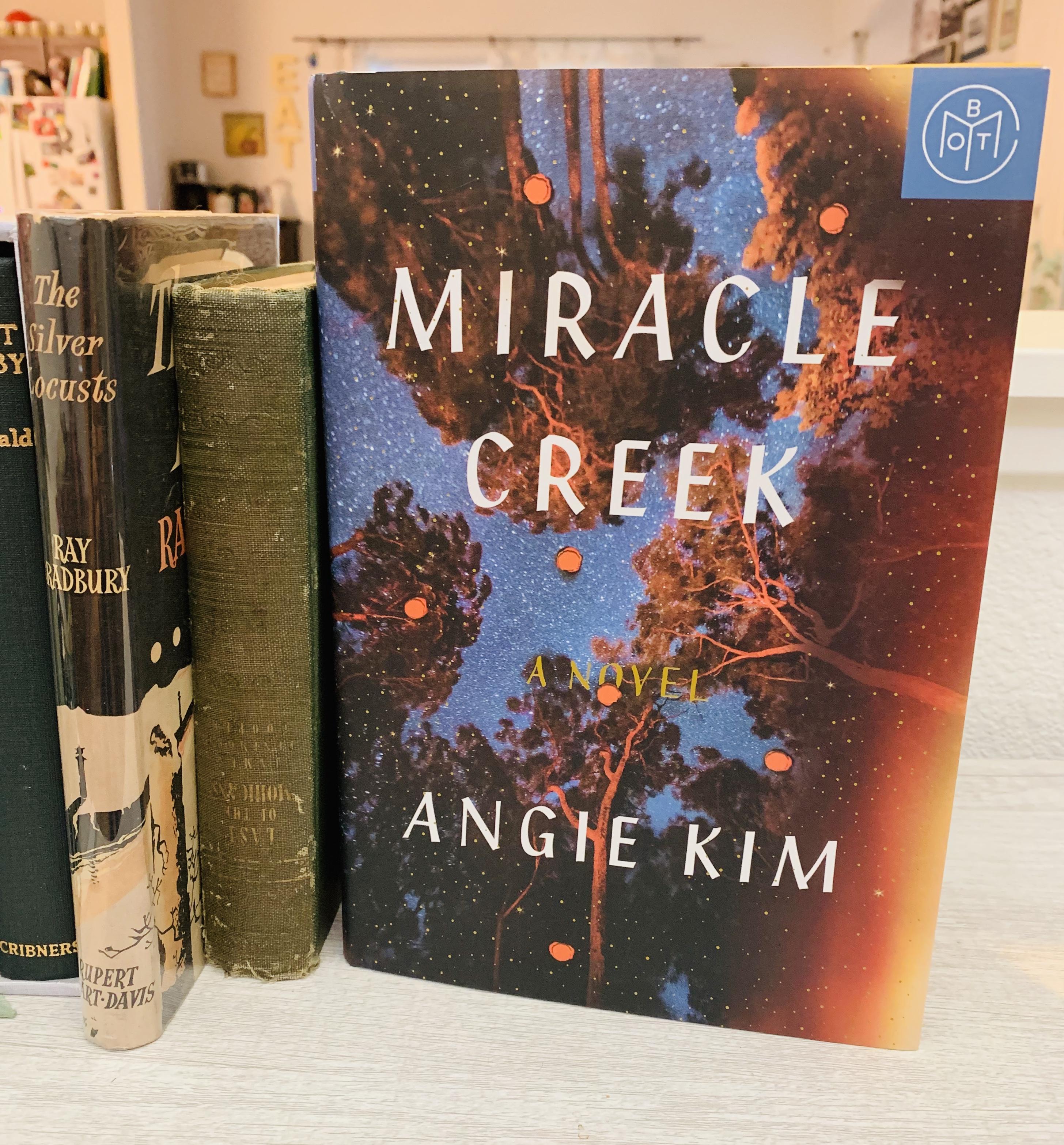 Miracle Creek book on bookshelf