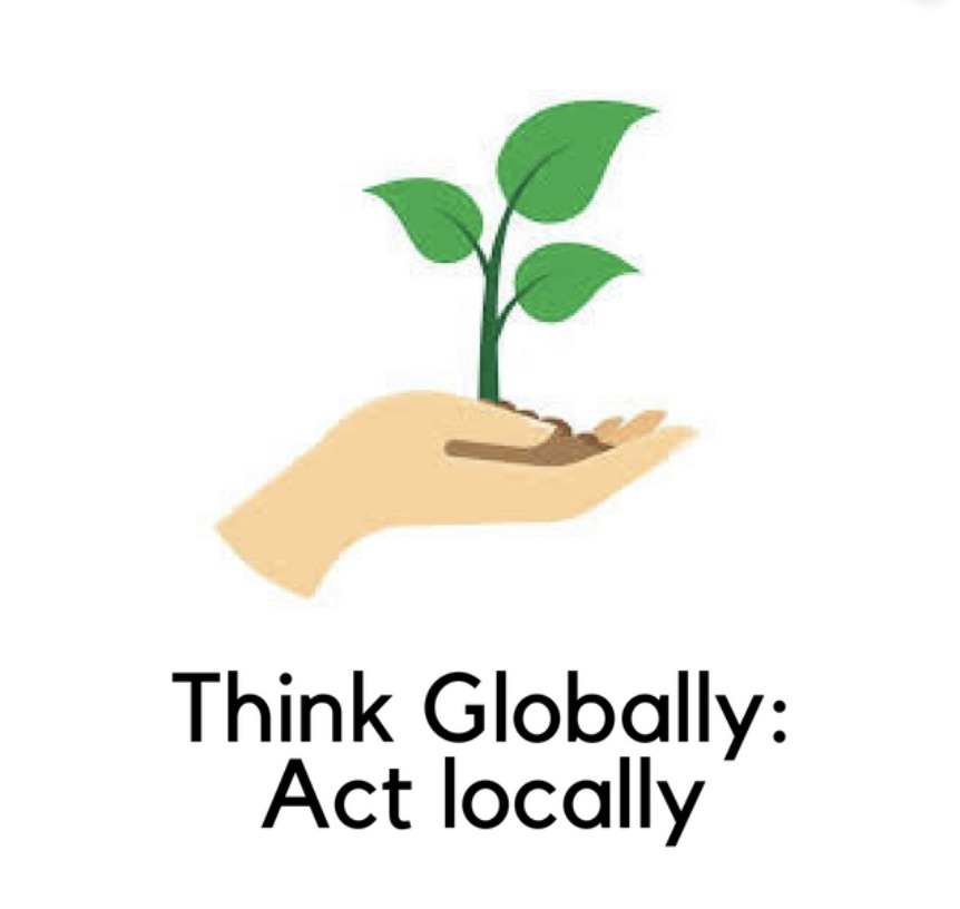 Think globally act locally image to inspire change