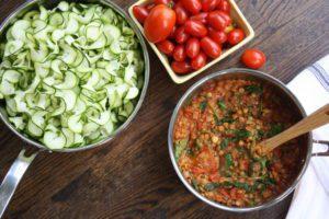 lentil marinara fall food