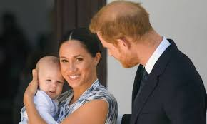 duke and duchess of sussex and baby