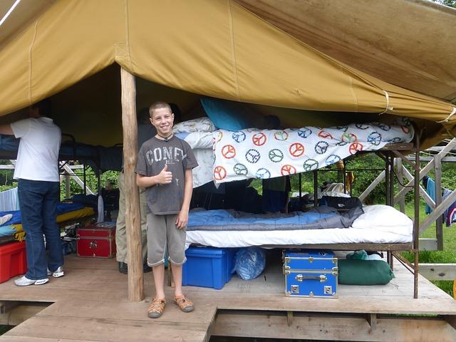 kid at summer camp military perk