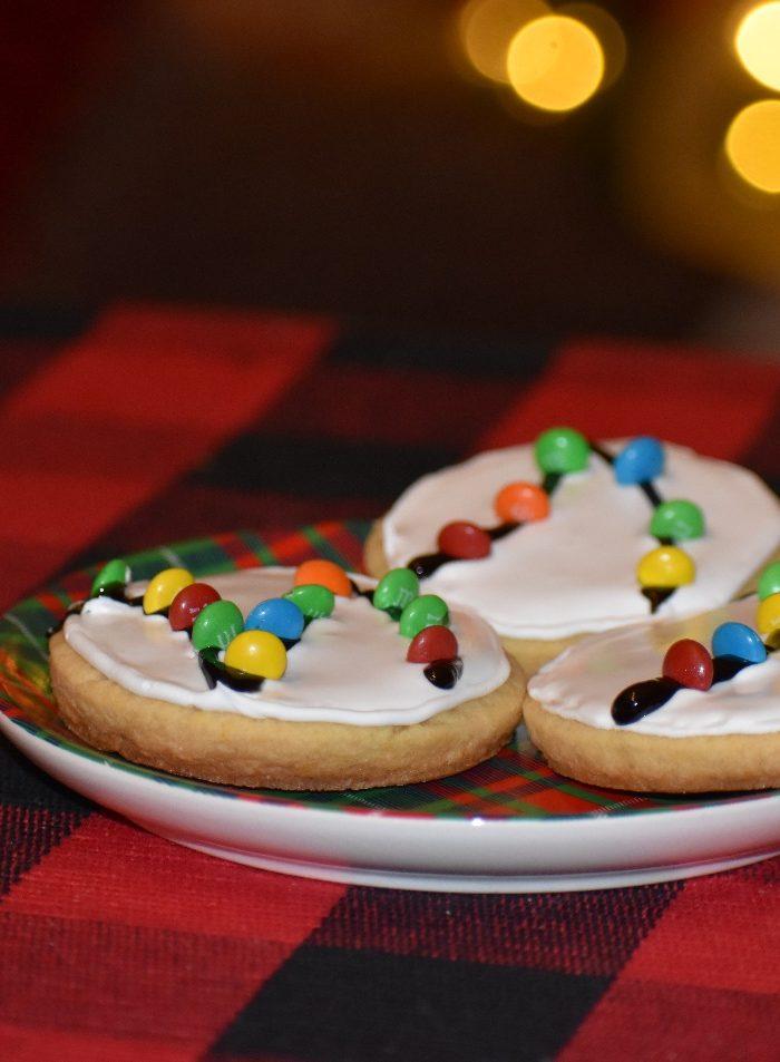 christmas light cookie
