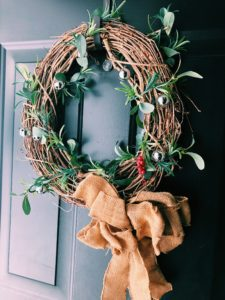 winter wreath to combat the winter slump