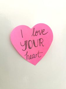 I love your heart on a pink cutout heart