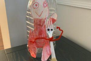 homemade Forky upcycling art