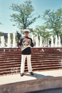 military band member in service uniform