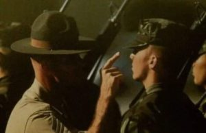 drill sergeant instructing at boot camp