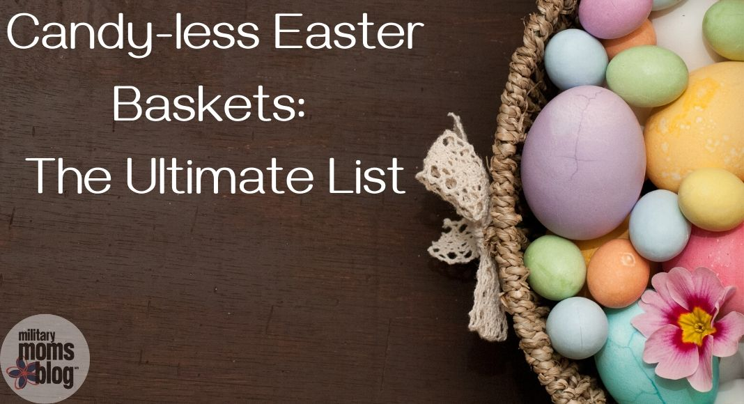 Candy-less Easter Baskets: The Ultimate List with basket of eggs
