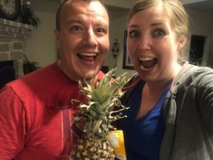Surprise about a pineapple