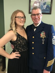 military couple in uniform