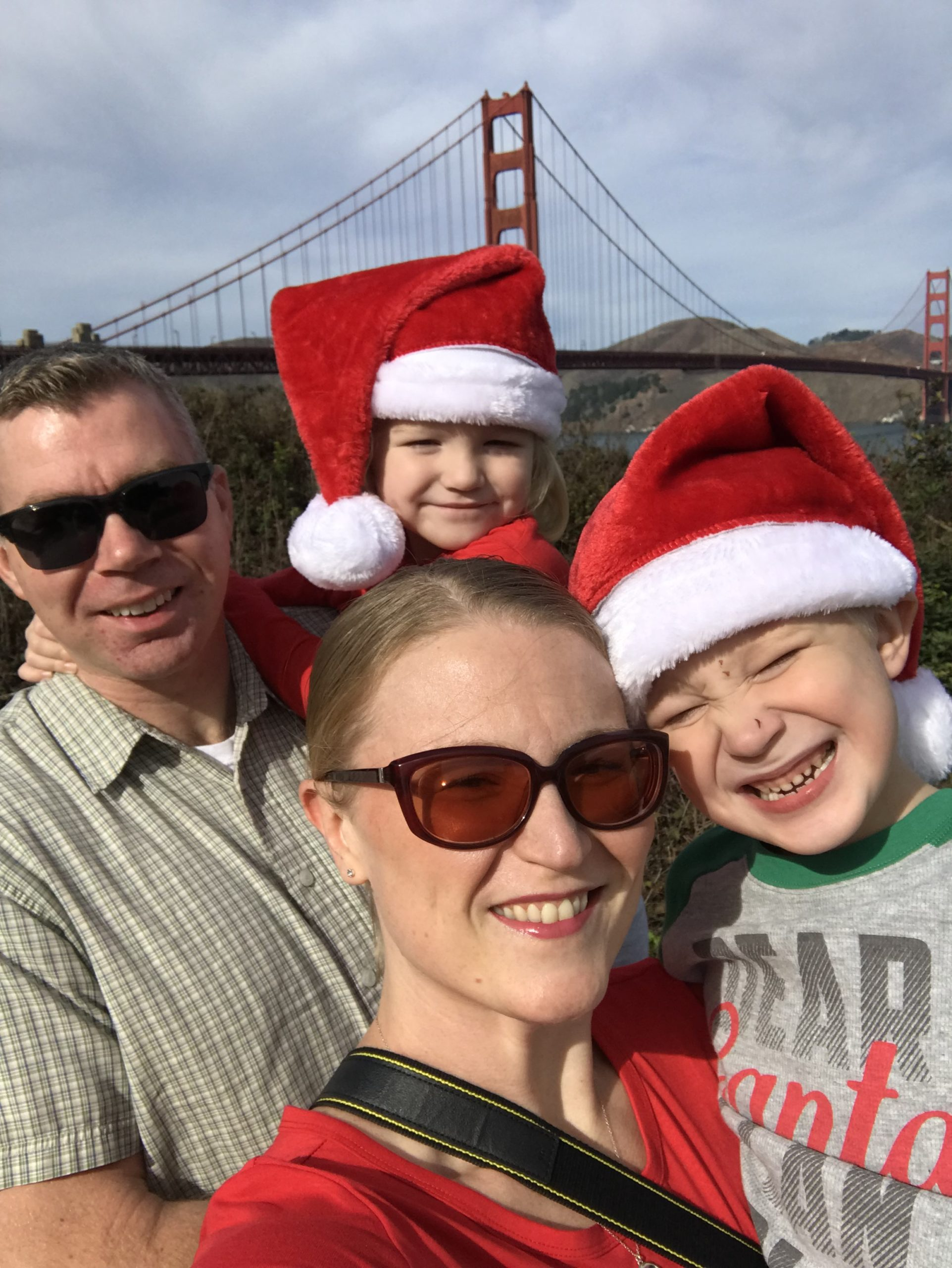 military family wearing holiday attire