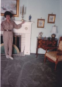 woman standing in decorated house