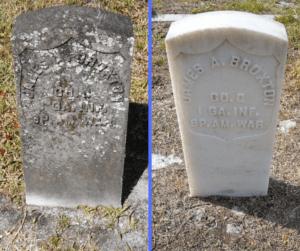 Veterans' tombstones