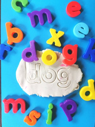 play dough fun with letters