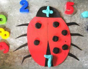 Play Dough ladybug addition