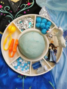 Frozen Themed Play Dough Invitation To Play