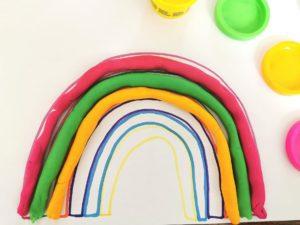 Rainbow Play Dough Matching