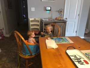 young children at a table