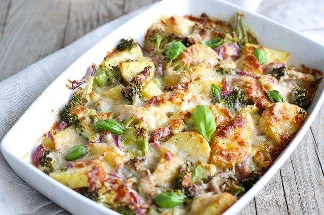 food, a casserole