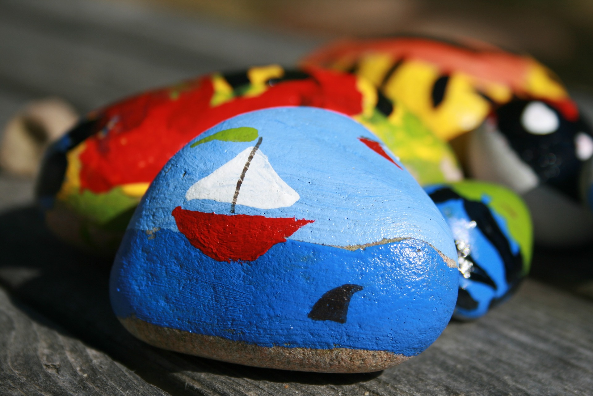 painted rocks for craft activity