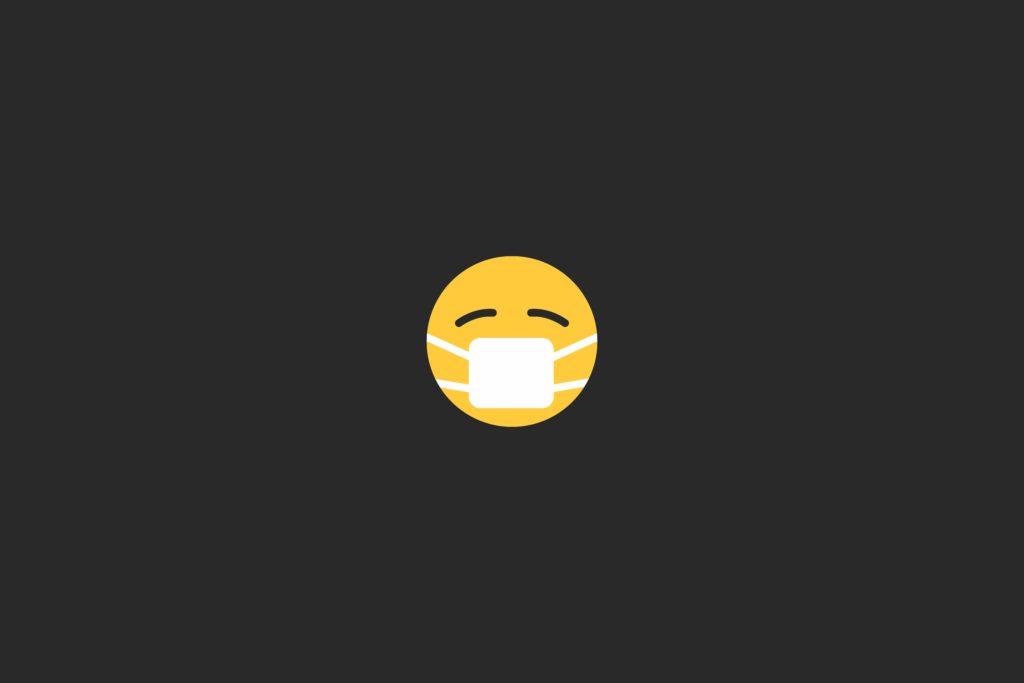 emoji with mask for coronavirus