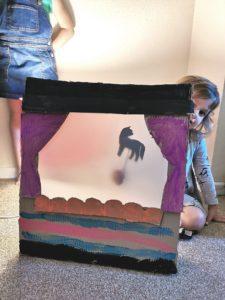 cardboard shadow theater