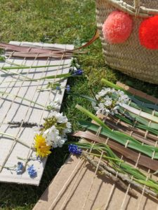 cardboard nature weaving
