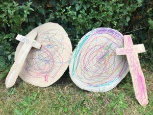 cardboard shields and swords