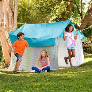 make your own campsite with kids