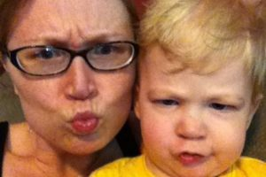 fun mom and son