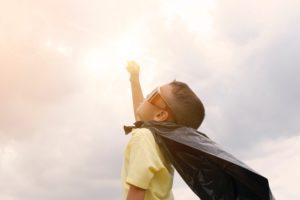 super kid represents emotional resilience