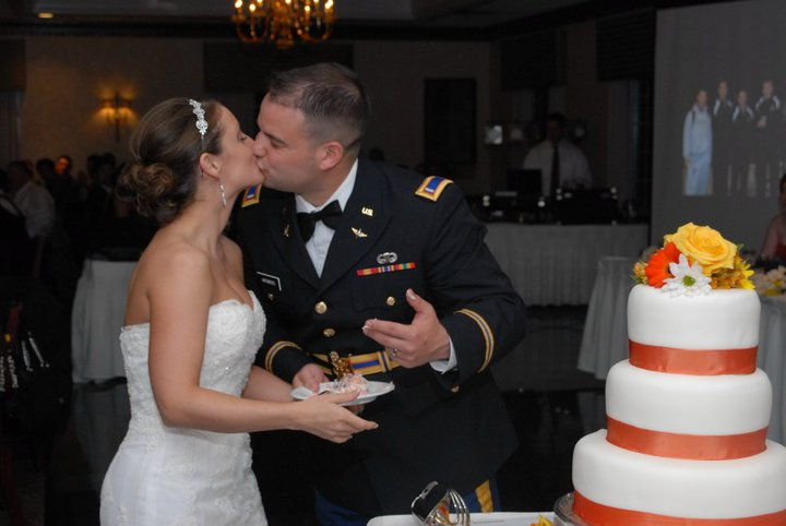 military couple on wedding day