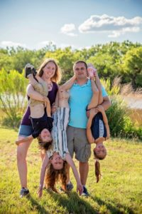 Silly family photo